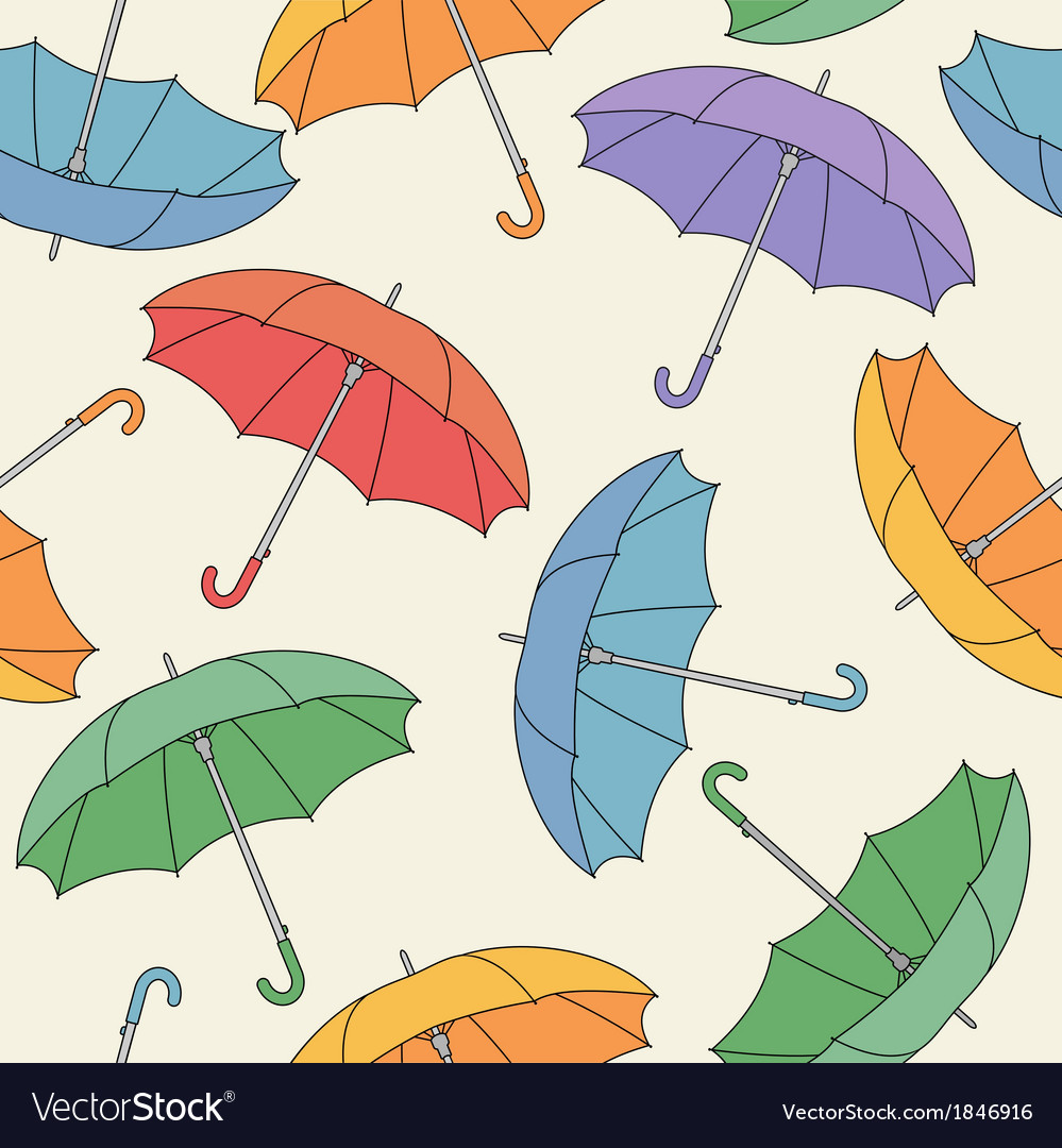 Seamless pattern with umbrellas vector | Price: 1 Credit (USD $1)