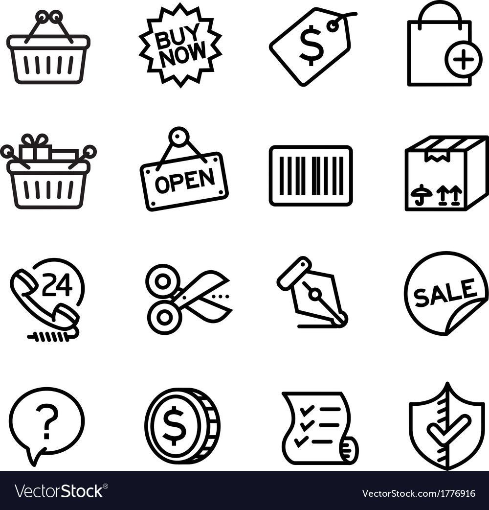 Shopping icons - vector | Price: 1 Credit (USD $1)