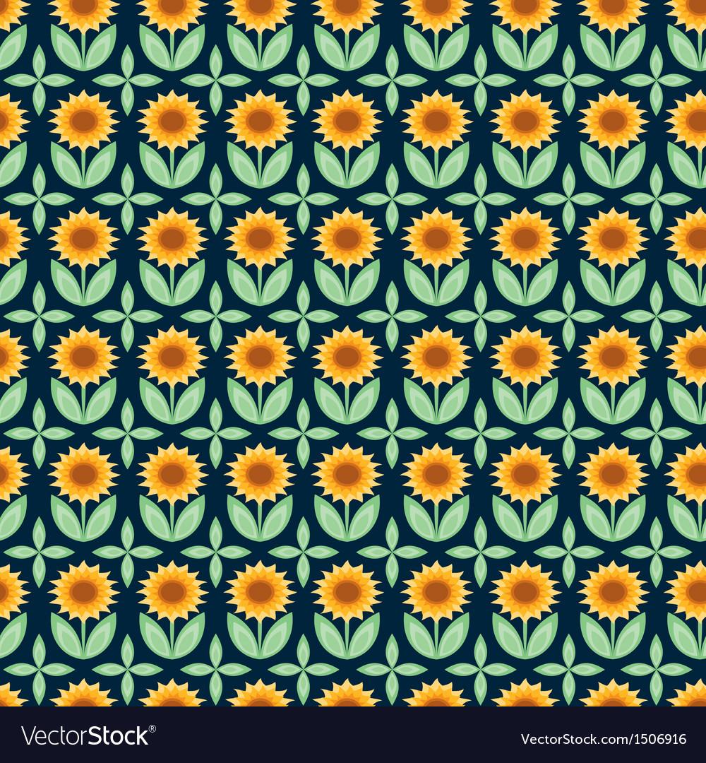 Sunflower pattern vector | Price: 1 Credit (USD $1)