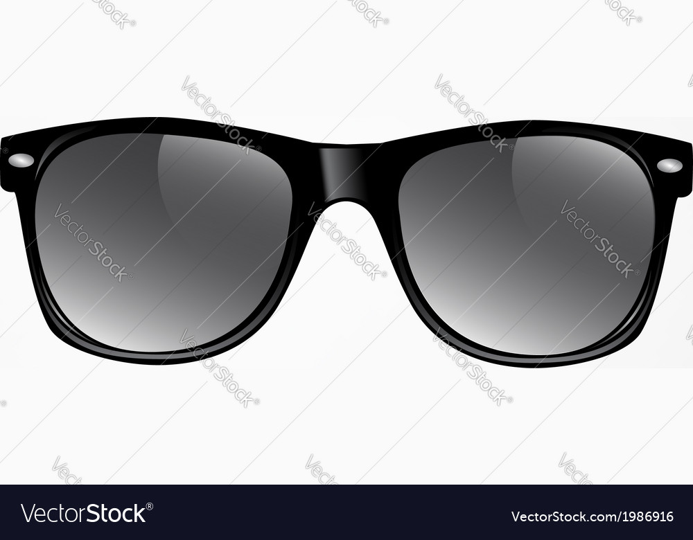 Sunglasses isolated vector