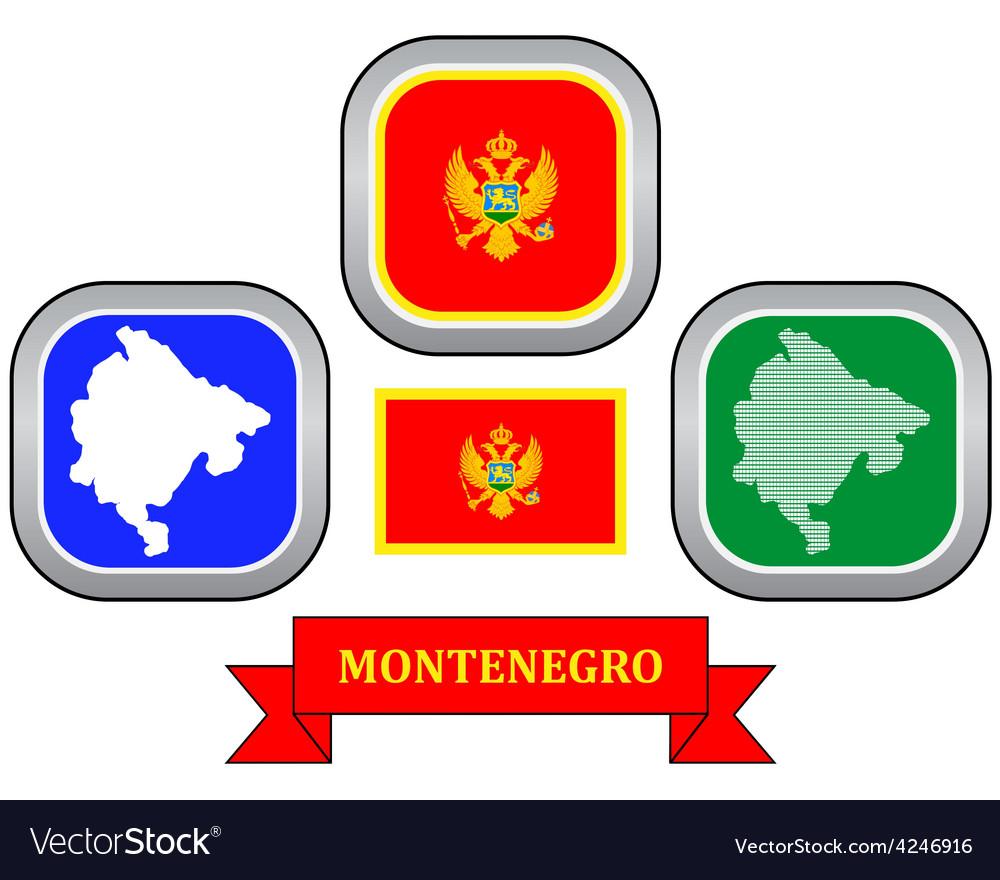 Symbol of montenegro vector | Price: 1 Credit (USD $1)