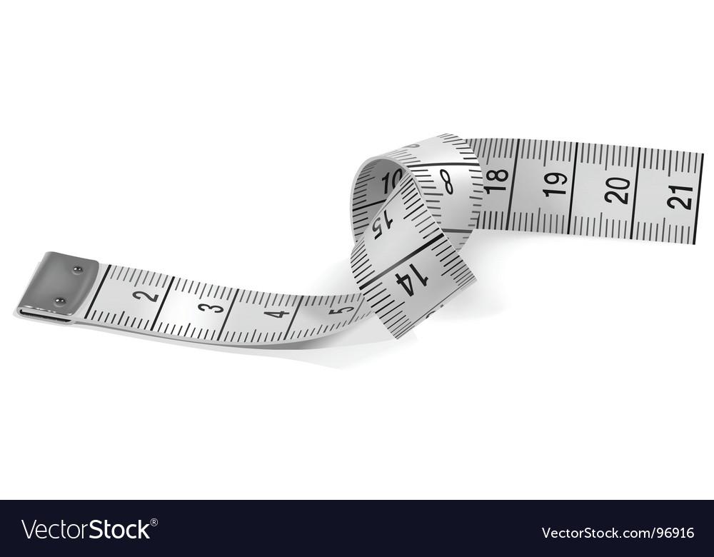Tape measure vector | Price: 1 Credit (USD $1)
