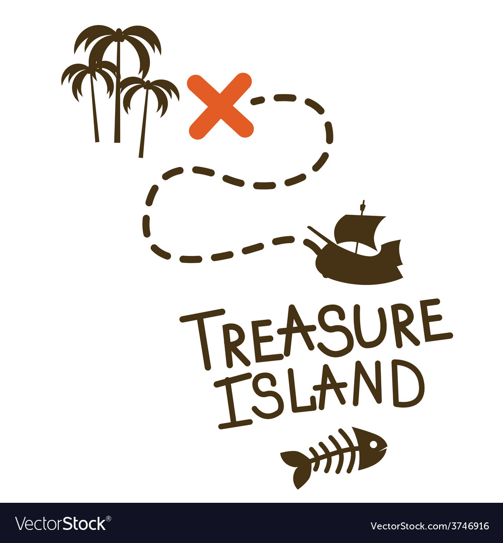 Treasure island game design vector