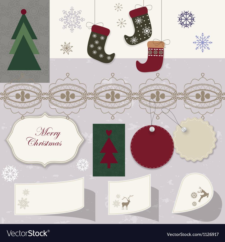 Christmas scrapbook vector | Price: 1 Credit (USD $1)