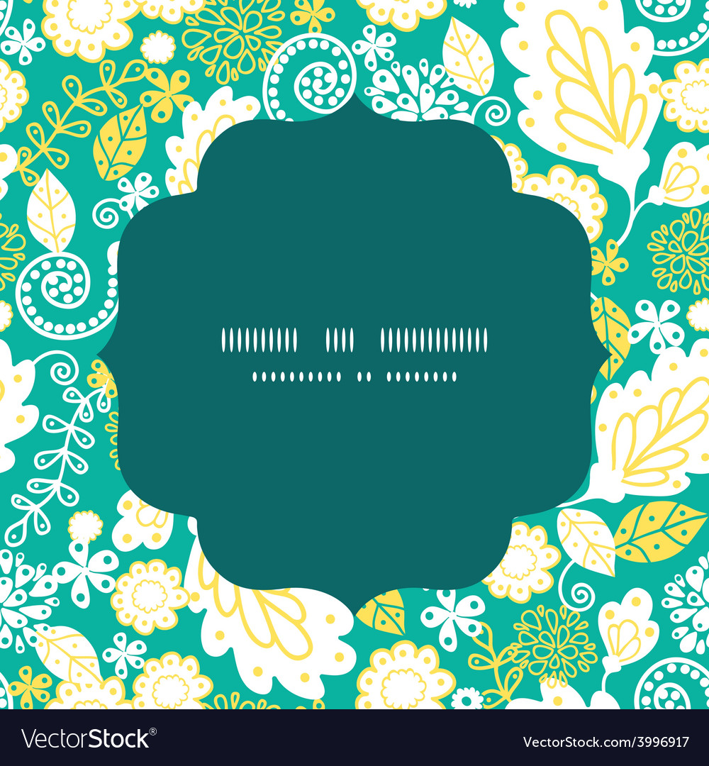 Emerald flowerals circle frame seamless vector | Price: 1 Credit (USD $1)