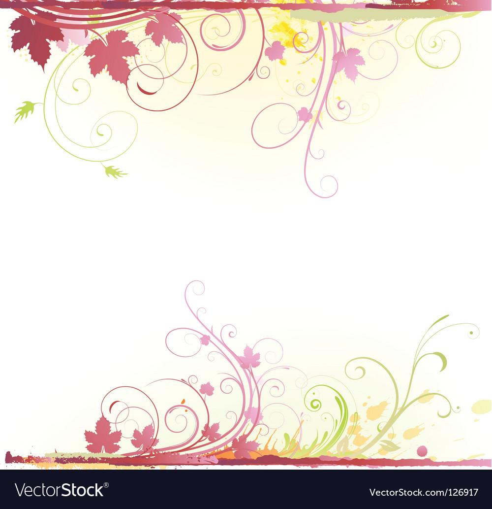 Floral decorative background vector   Price: 1 Credit (USD $1)