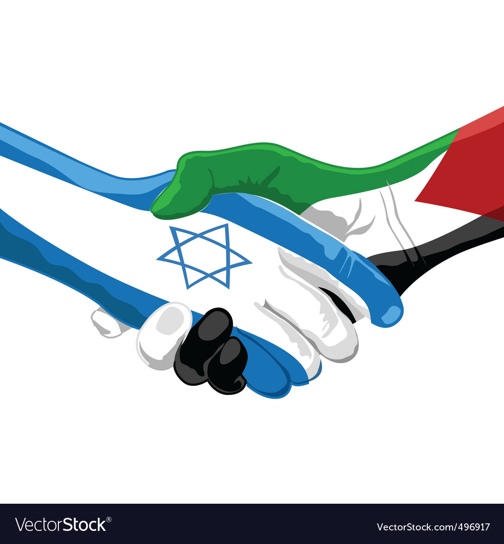 Peace between israel and palestine vector | Price: 1 Credit (USD $1)