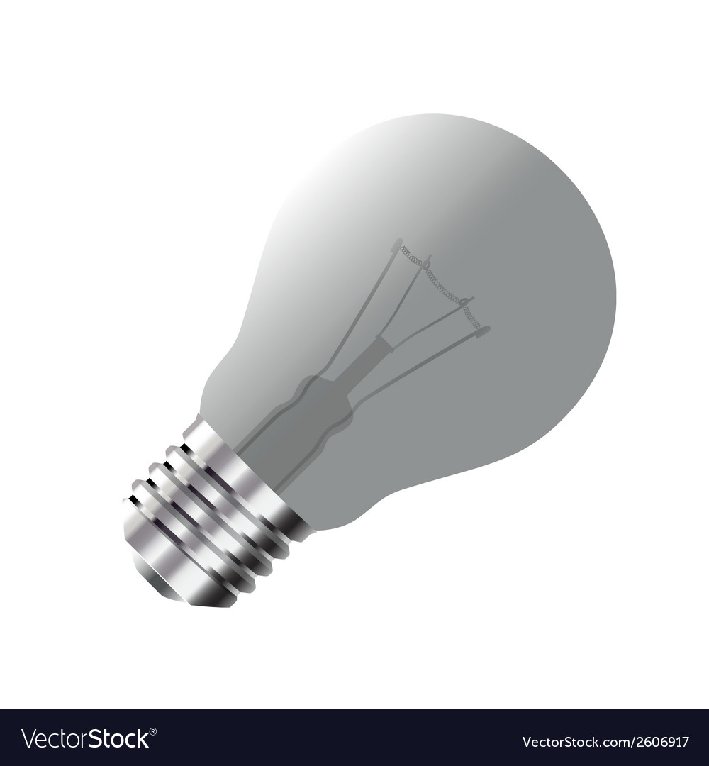 Realistic light bulb isolated on white vector | Price: 1 Credit (USD $1)