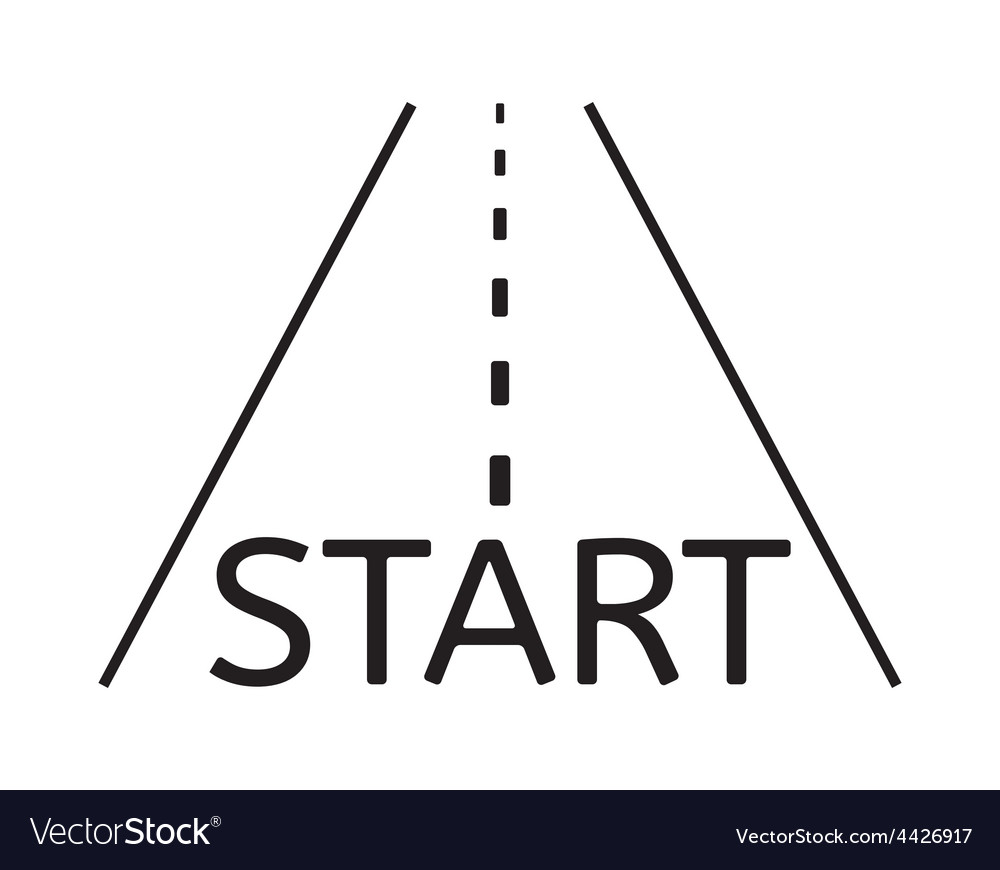 Road and start vector | Price: 1 Credit (USD $1)