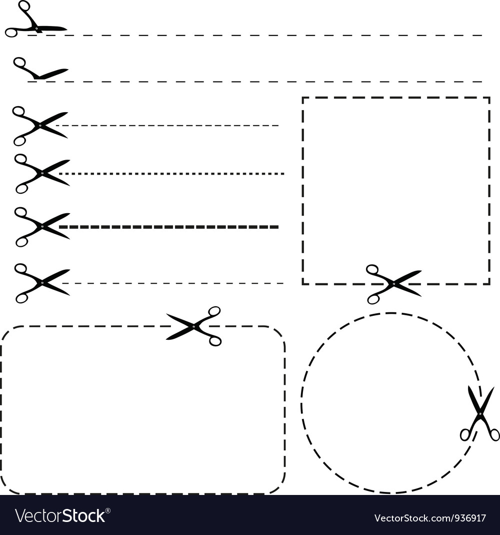 Set of coupon borders vector