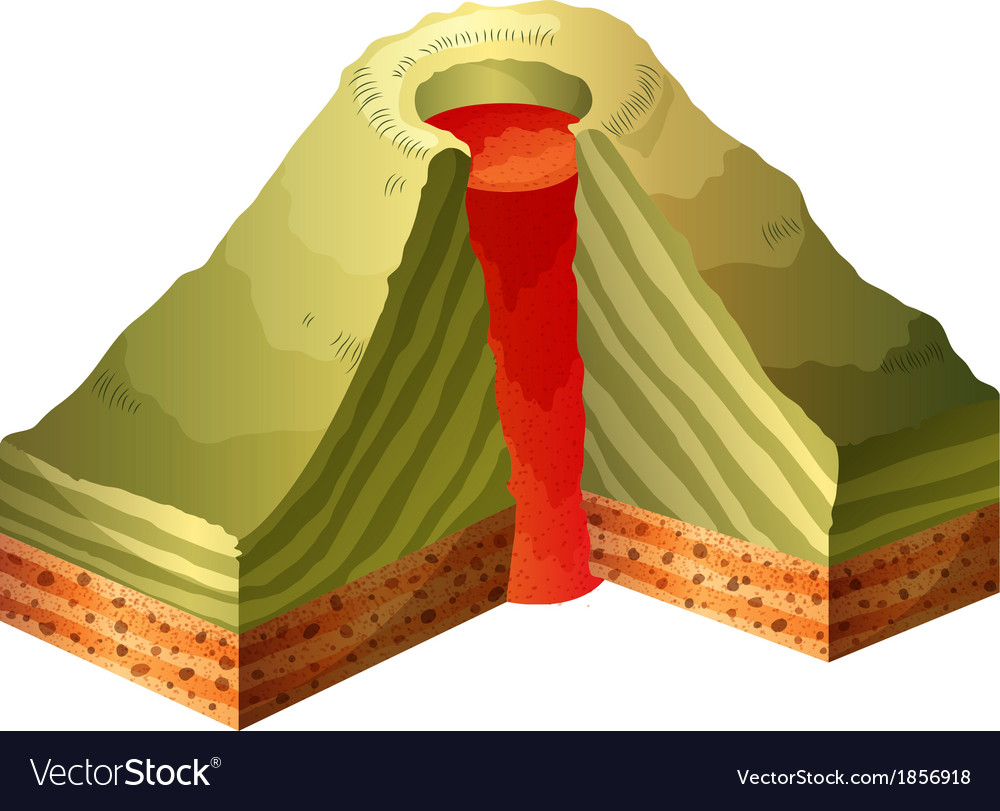 A cross-section of the volcano vector | Price: 1 Credit (USD $1)