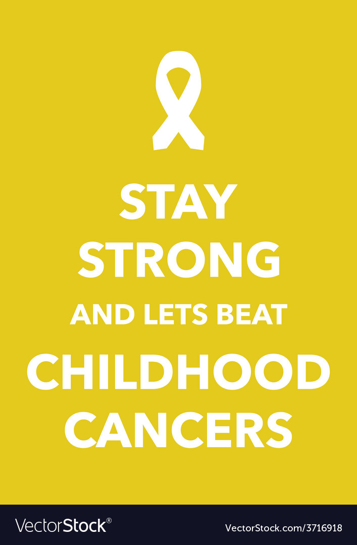 Childhood cancers poster vector | Price: 1 Credit (USD $1)