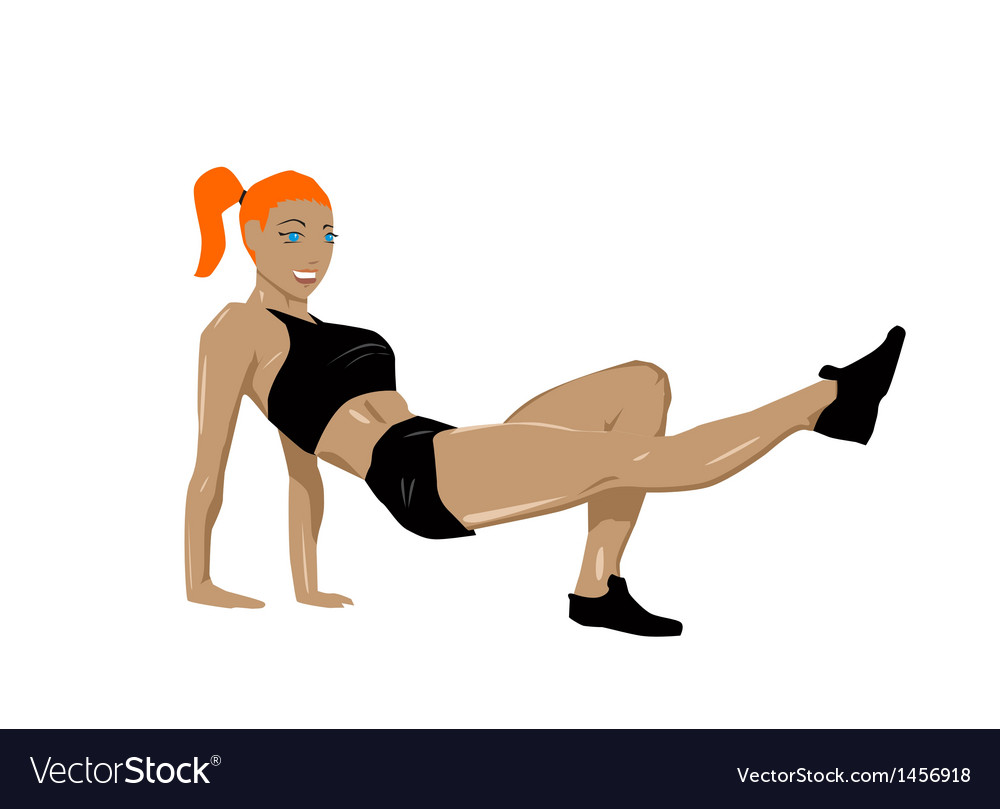 Fit woman vector | Price: 1 Credit (USD $1)