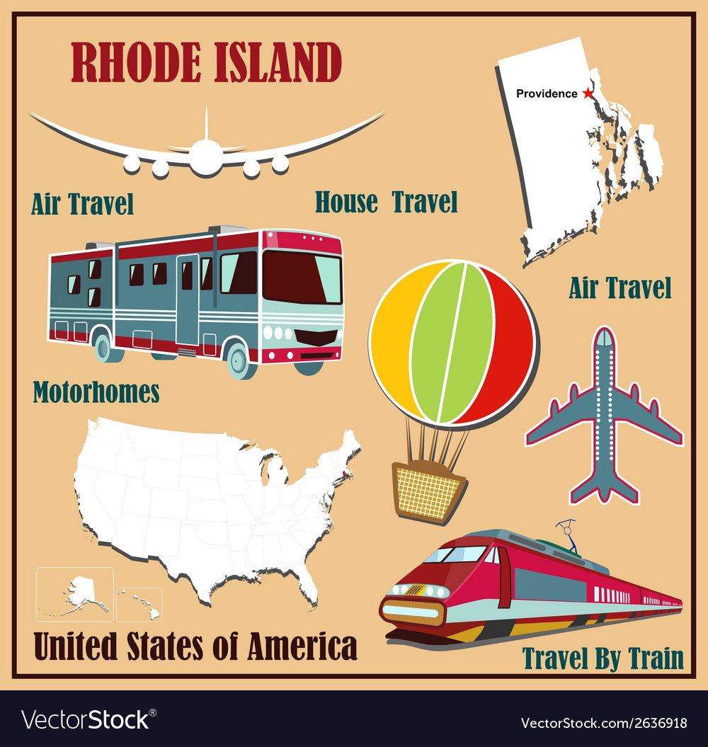 Flat map of rhode island vector | Price: 1 Credit (USD $1)