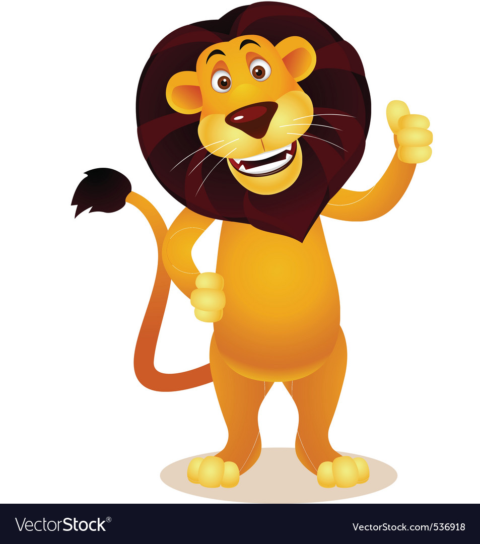Lion cartoon vector | Price: 1 Credit (USD $1)