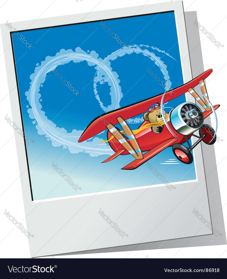Retro airplane vector | Price: 3 Credit (USD $3)