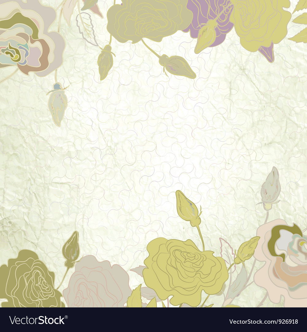 Romantic elegant floral vector | Price: 1 Credit (USD $1)