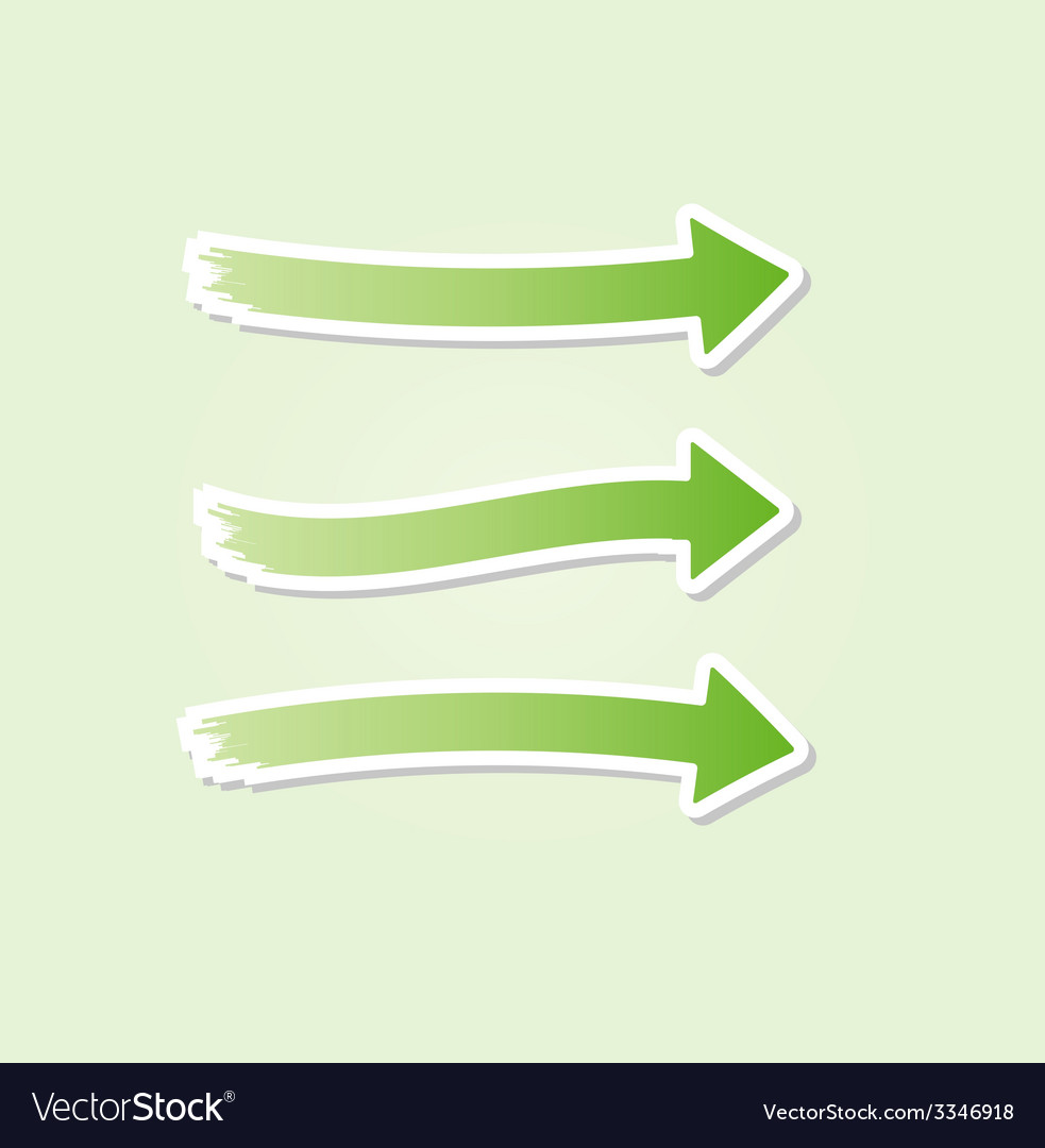 Three different green arrows vector   Price: 1 Credit (USD $1)