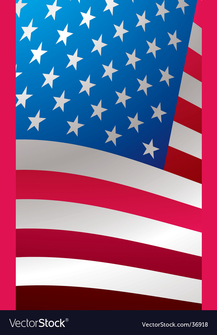 Us flag close vector | Price: 1 Credit (USD $1)