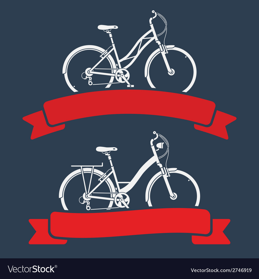 Bicycles and ribbons vector | Price: 1 Credit (USD $1)