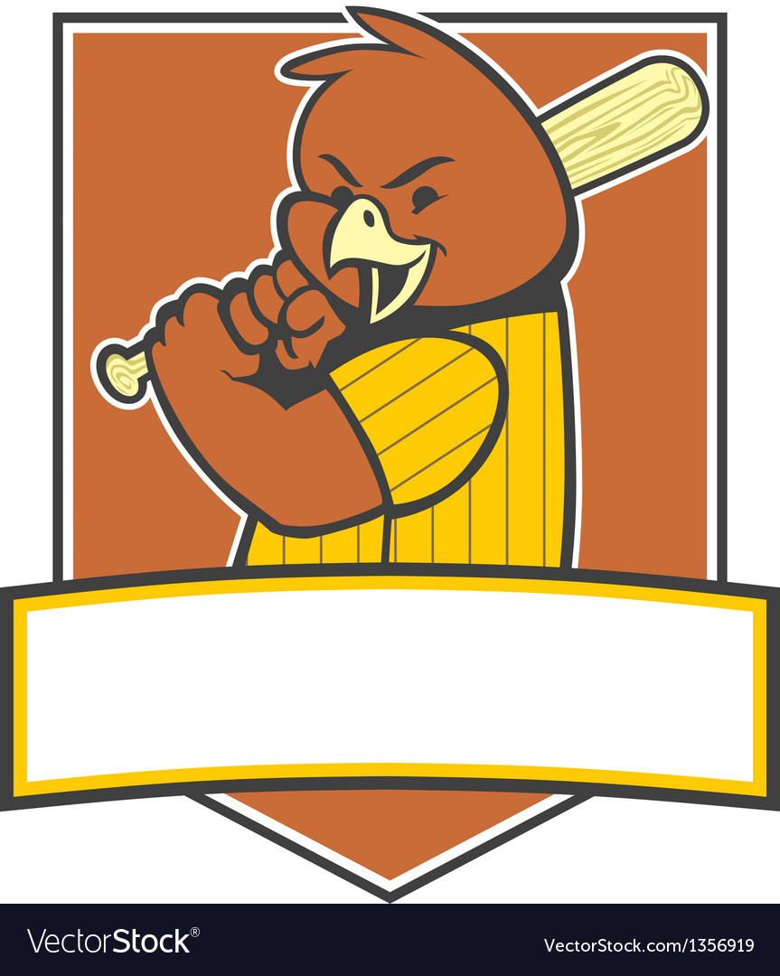 Bird baseball player vector | Price: 1 Credit (USD $1)