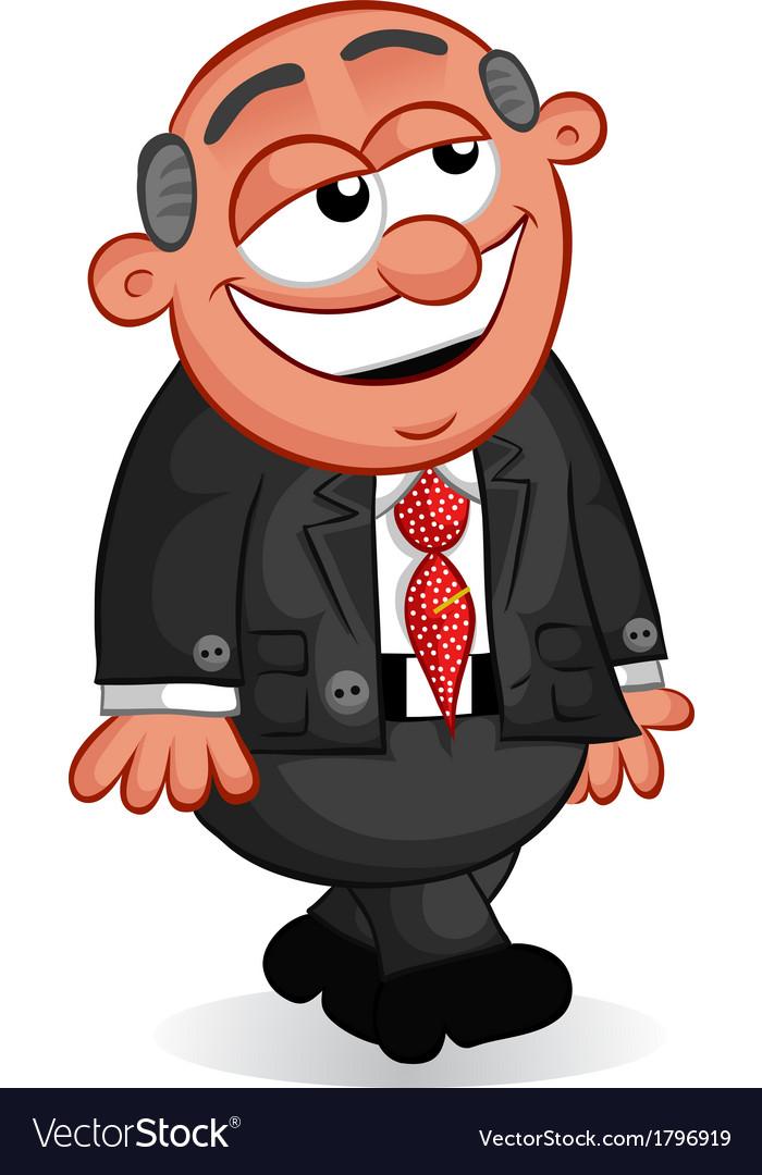 Boss man smiling and walking vector