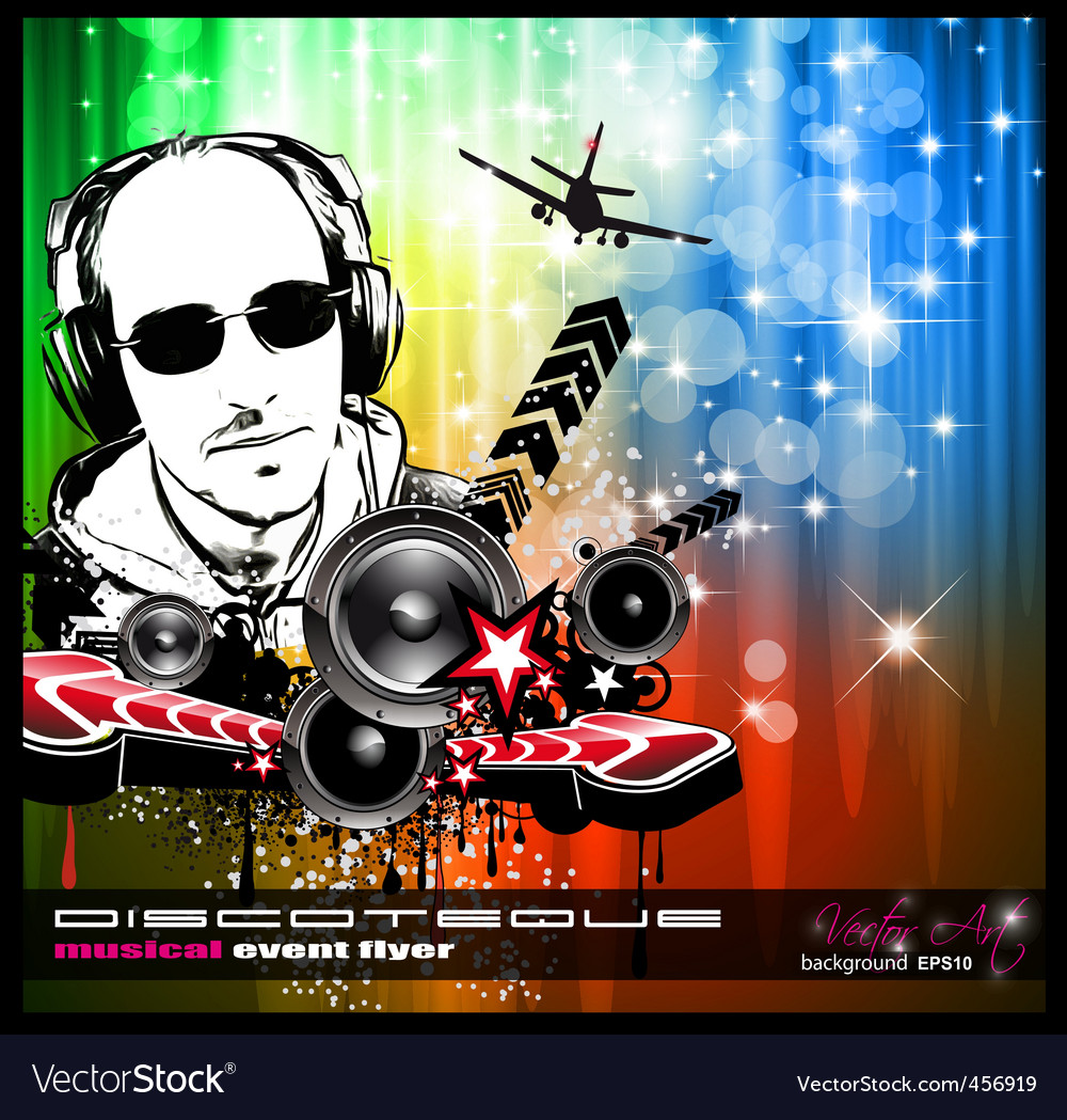 Disco party flyer vector | Price: 1 Credit (USD $1)