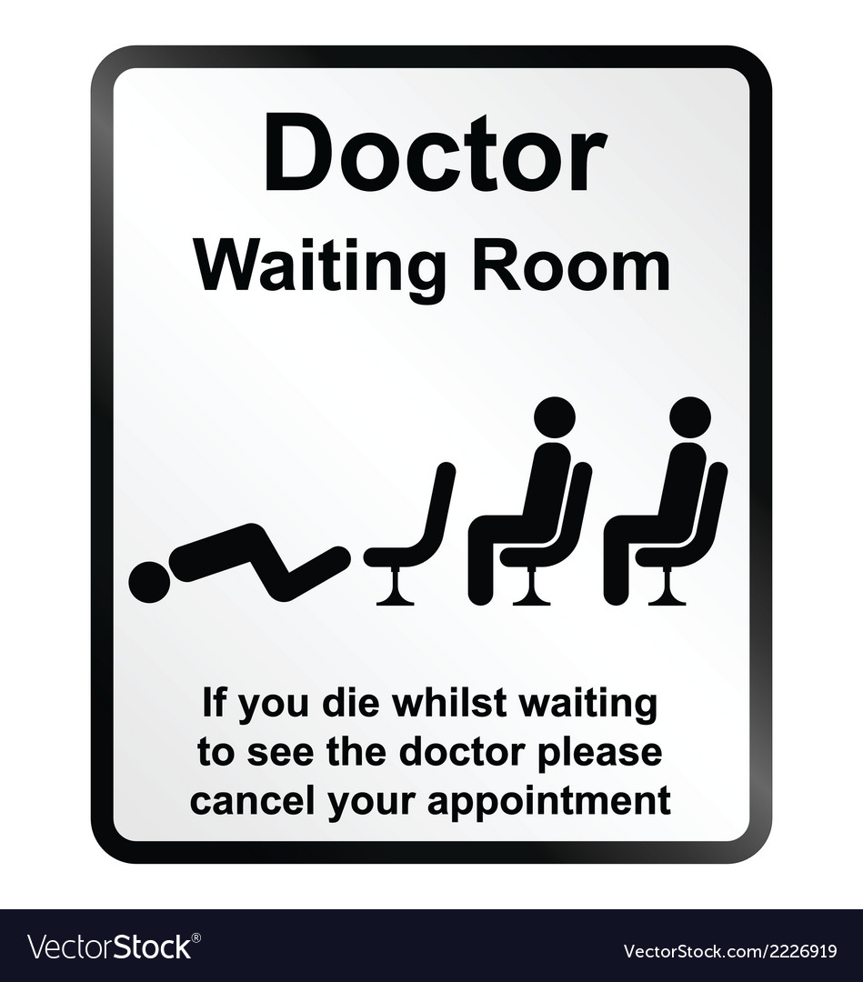 Doctors waiting room information sign vector | Price: 1 Credit (USD $1)