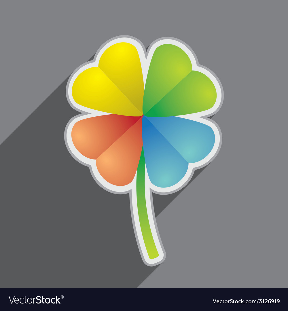 Four leaf vector | Price: 1 Credit (USD $1)