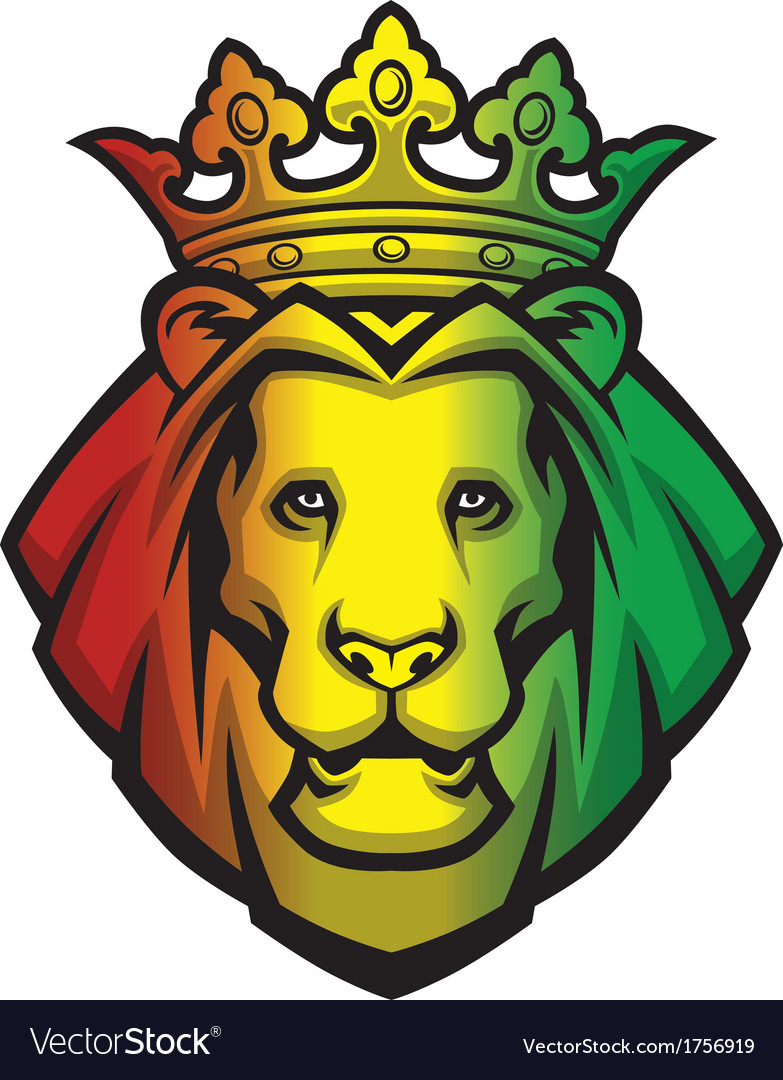 Lion rasta head vector | Price: 1 Credit (USD $1)