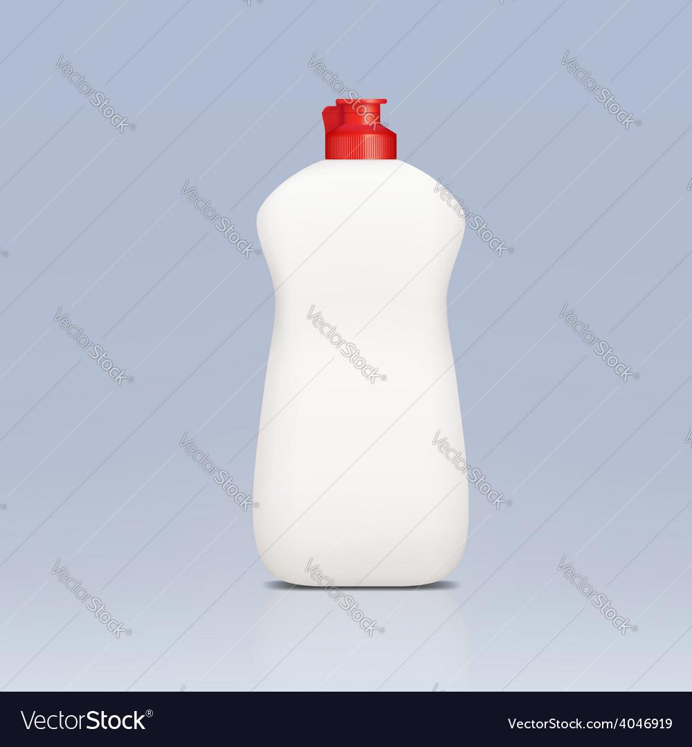 Plastic bottle of detergent vector | Price: 1 Credit (USD $1)