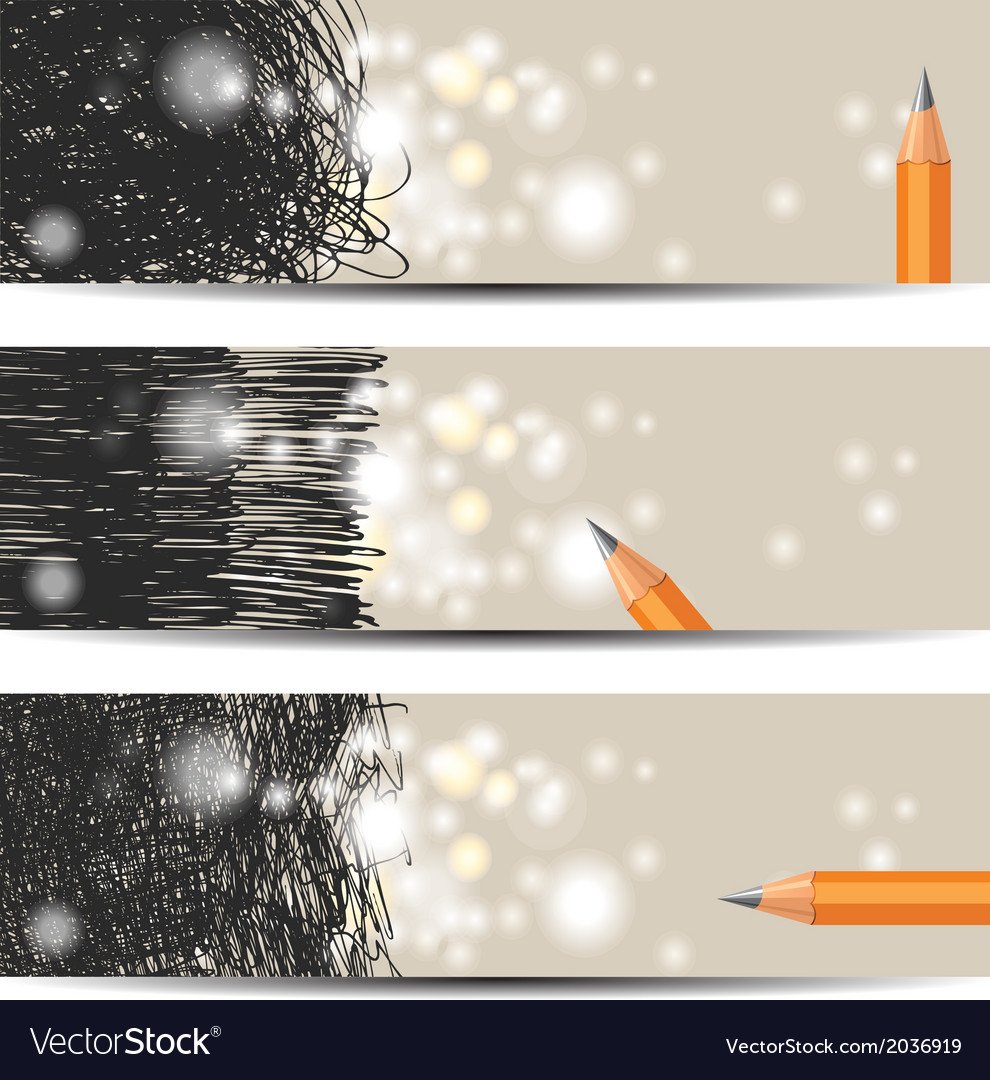 Scribble banners vector | Price: 1 Credit (USD $1)