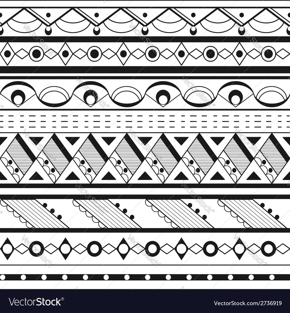 Seamless ethnic background vector | Price: 1 Credit (USD $1)