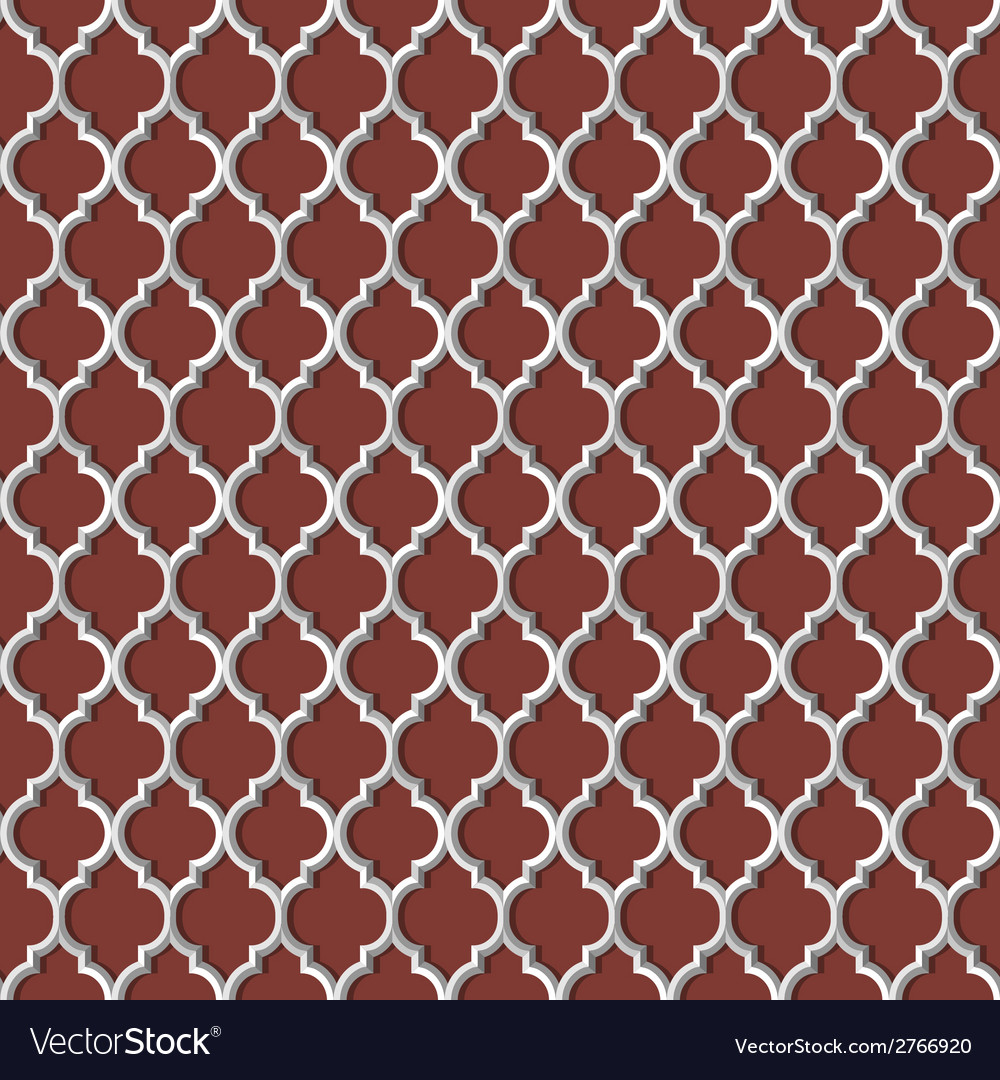 3d white seamless pattern in arabic style vector