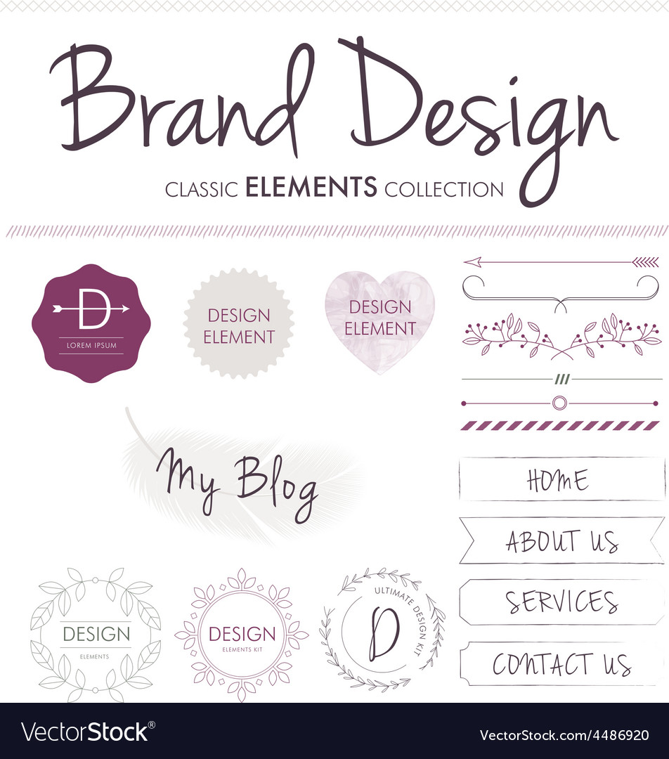 Brand design elements vector | Price: 1 Credit (USD $1)