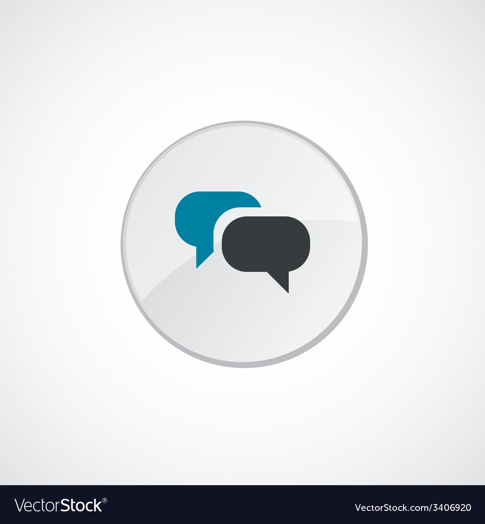 Conversation icon 2 colored vector | Price: 1 Credit (USD $1)