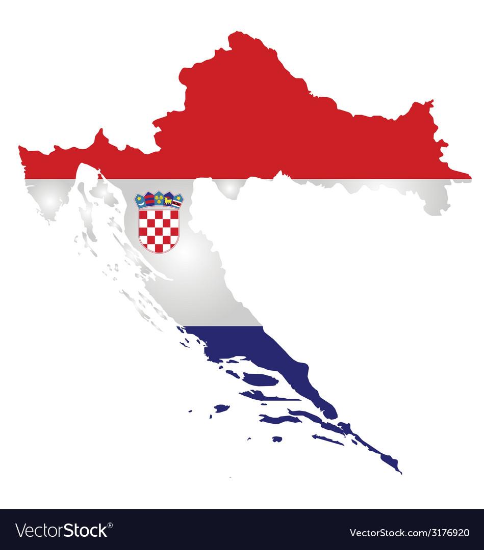 Croatia flag vector | Price: 1 Credit (USD $1)