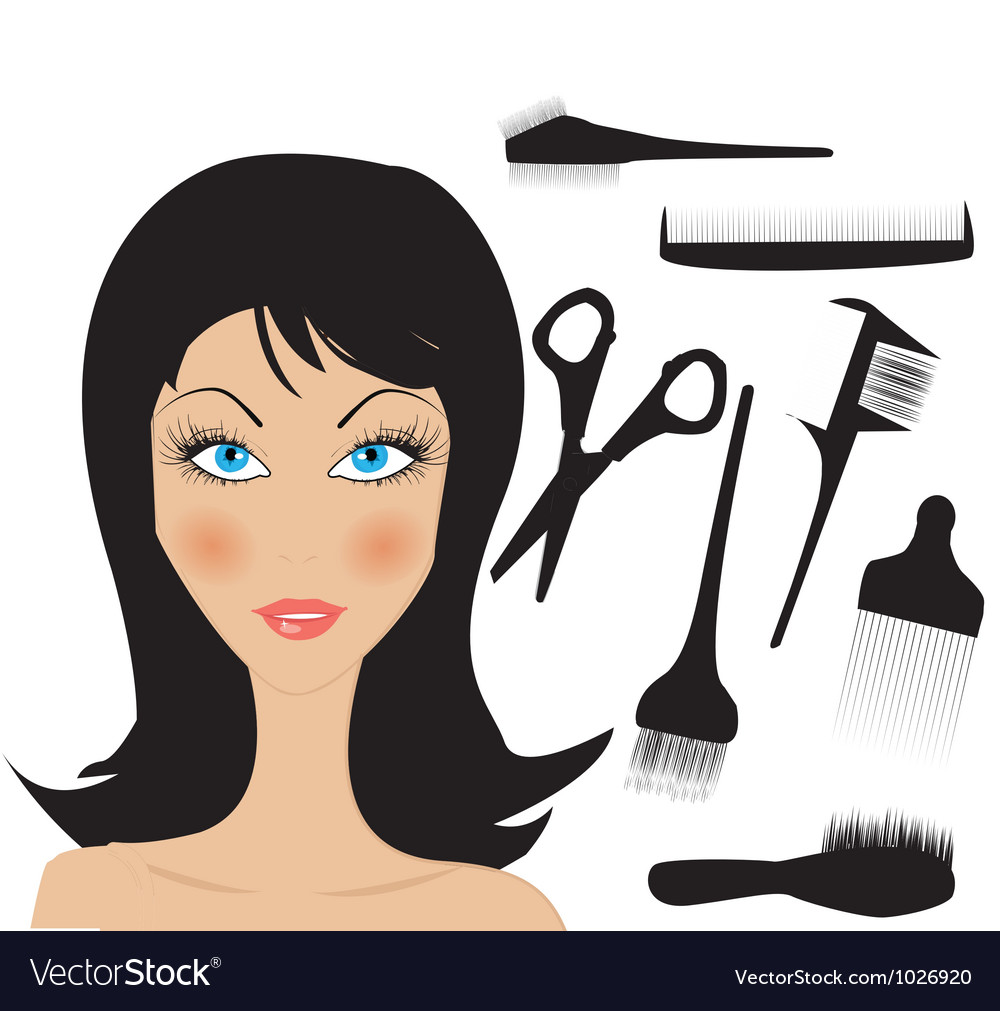 Hairdresser figure vector | Price: 1 Credit (USD $1)