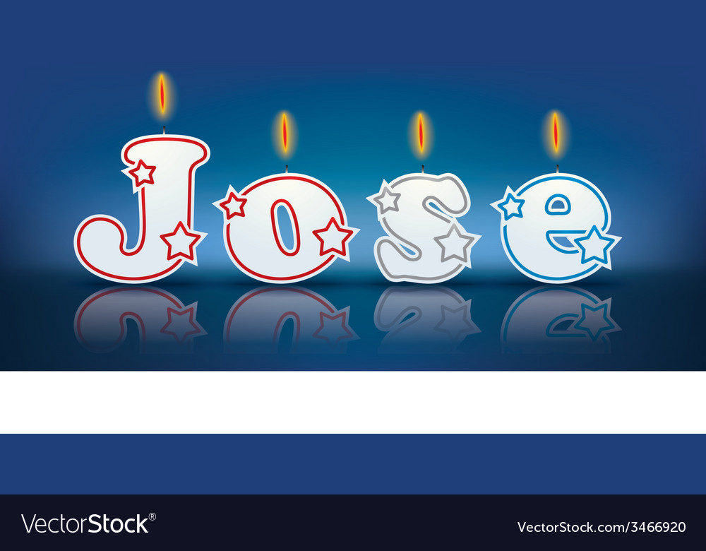 Jose written with burning candles vector | Price: 1 Credit (USD $1)