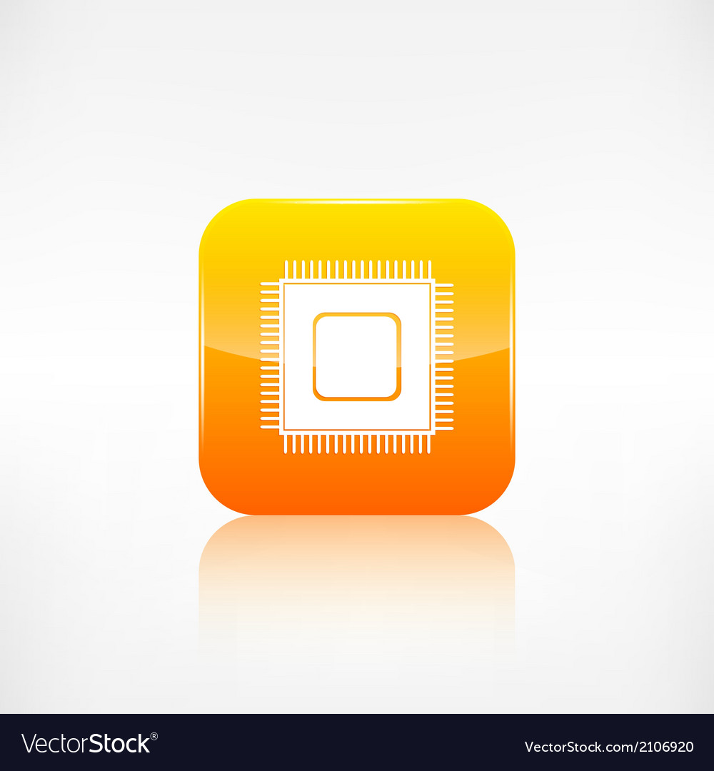 Microchip web icon application button vector | Price: 1 Credit (USD $1)
