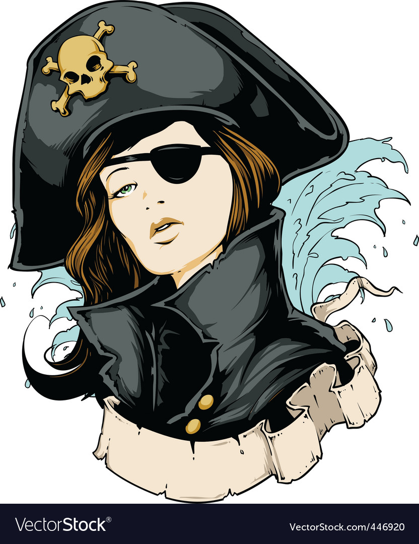 Pirate girl vector | Price: 5 Credit (USD $5)