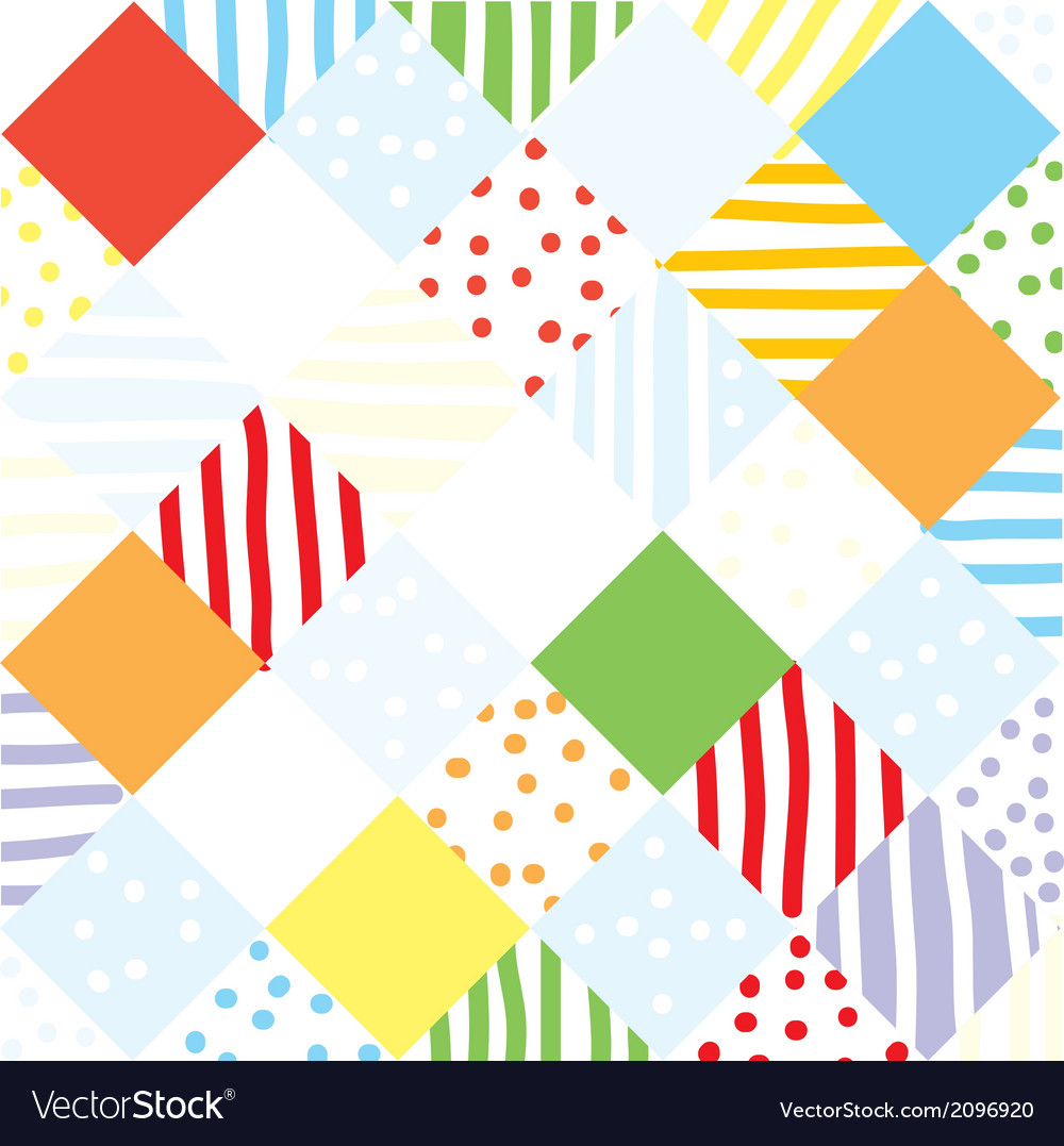 Plaid funny seamless patchwork vector | Price: 1 Credit (USD $1)