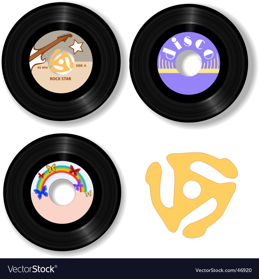 Retro 45 rpm record labels vector | Price: 1 Credit (USD $1)