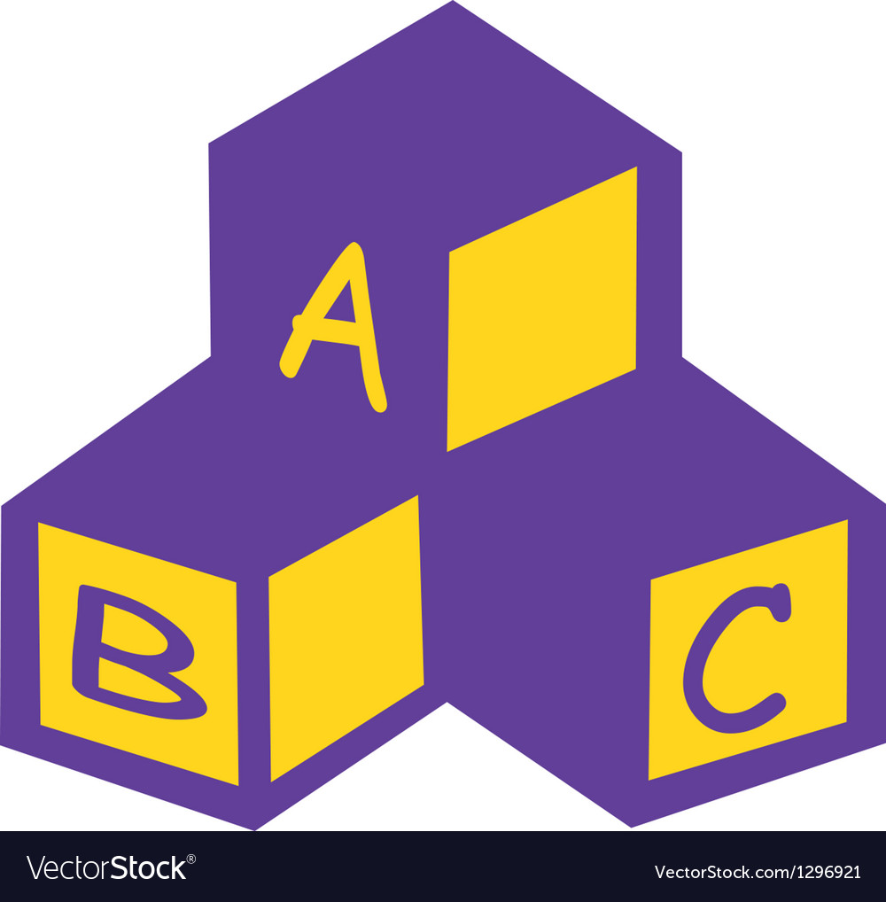 Abc blocks vector | Price: 1 Credit (USD $1)