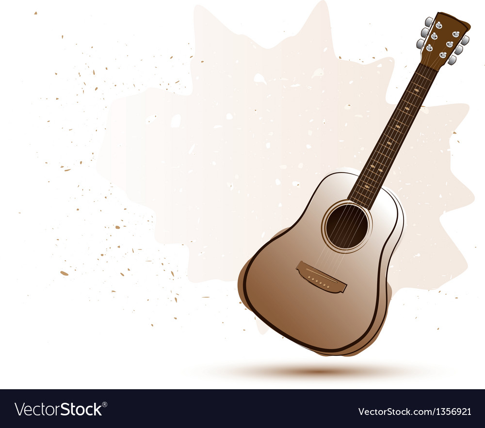 Acoustic guitar in water color style vector | Price: 1 Credit (USD $1)