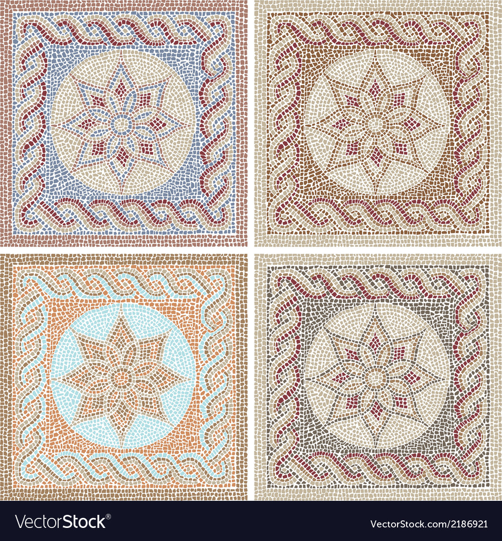 Antique mosaic vector | Price: 1 Credit (USD $1)