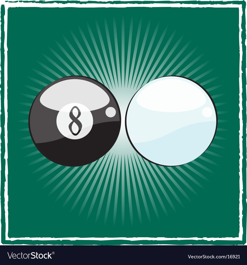 Black and white billiard ball vector | Price: 1 Credit (USD $1)