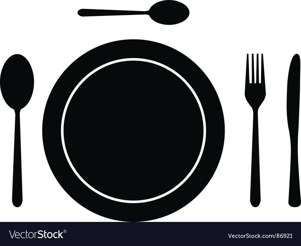 Cutlery dish vector | Price: 1 Credit (USD $1)