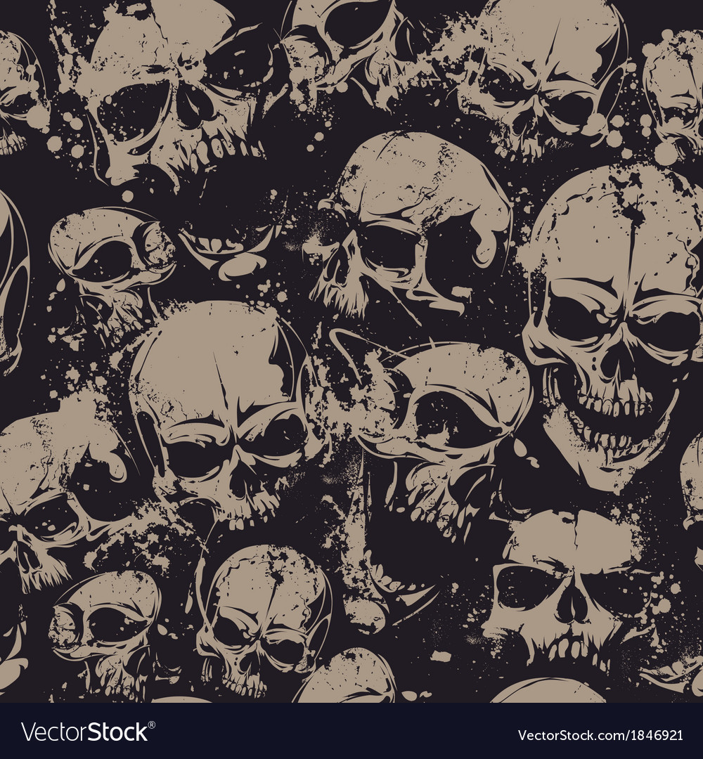 Grunge skull seamless 2 vector | Price: 1 Credit (USD $1)