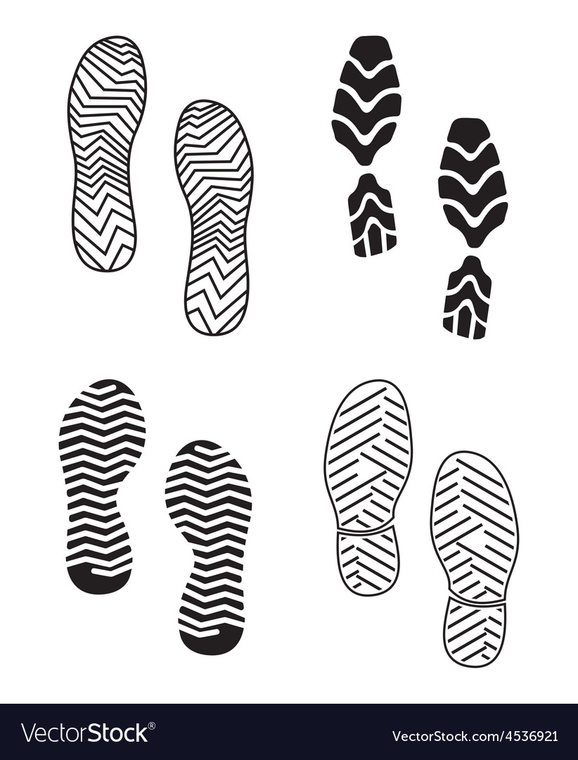New foot print set resize vector | Price: 1 Credit (USD $1)
